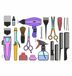 Barber shop tools vector