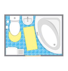 bathroom interior top view vector image