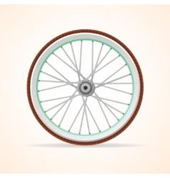 Bicycle vintage wheel vector image vector image