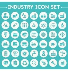 Big Industry icon set vector image vector image