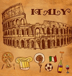 Coliseum hand drawn isolated vector image