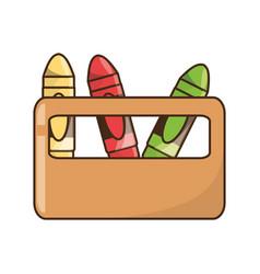 Cute crayons cartoon vector