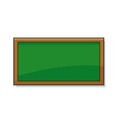 Empty green school chalkboard background texture vector