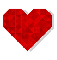 Geometric polygonal heart vector