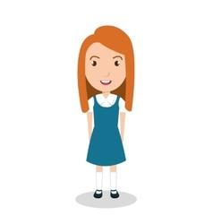 girl student uniform icon vector image