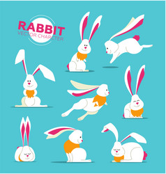 happy easter - modern set of vector image