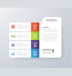Infographic vertical 4 tab index design vector