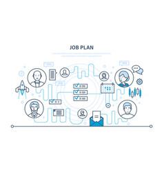 job plan time management organization planning vector image vector image