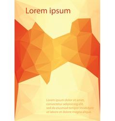 letterhead template design vector image