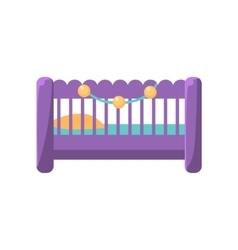 Little baby bed vector