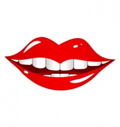 mouth laughs vector image vector image