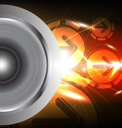 power of sound from speaker vector image vector image