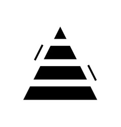 pyramid chart finance icon vector image