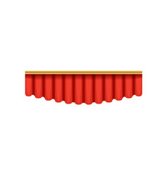 red silk pelmets for theater vector image vector image