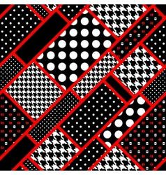 Retro rectangles in polka dot vector