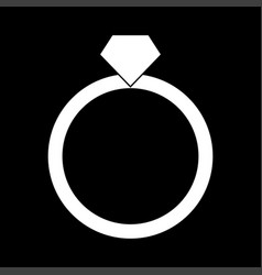 Ring white color icon vector