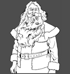santa claus without hat vector image vector image