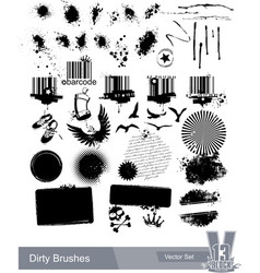 set of dirty grunge elements vector image vector image