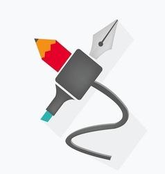 Set of Writing Utensils idea vector image