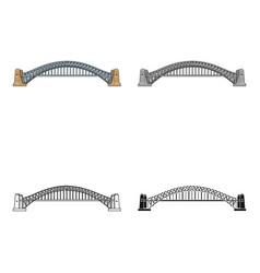 Sydney harbour bridge icon in cartoon style vector