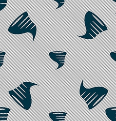 Tornado icon Seamless pattern with geometric vector image