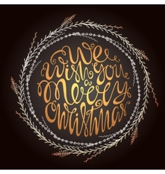 We wish you a merry christmas handdrawn vector