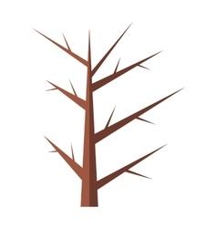 Winter tree flat icon vector