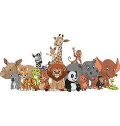 Funny kids animals vector
