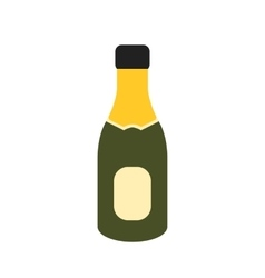 Champagne in bottle vector