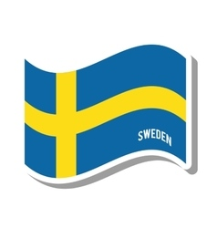 Sweden patriotic flag isolated icon vector