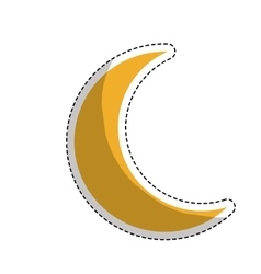 Yellow moon icon vector