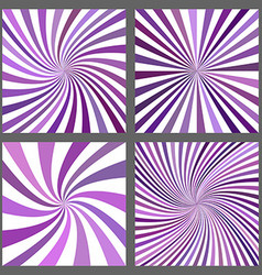 Purple spiral ray and starburst background set vector