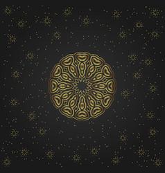 Golden circular shape creative eastern symbol vector