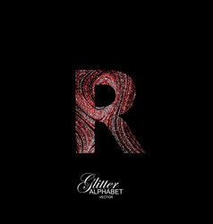 Curly textured letter r vector