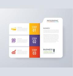Infographic vertical 3 tab index design vector