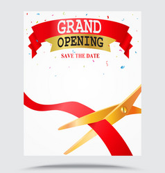 Grand opening background vector