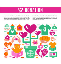Charity donation information page vector