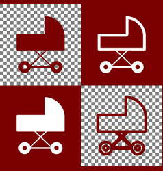 Pram sign bordo and white vector