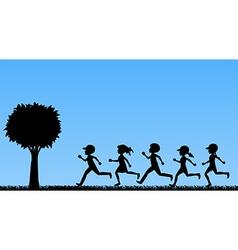 Children running vector image