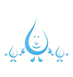 Cartoon water drops vector