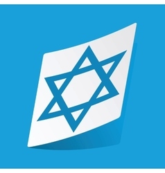 Star of david sticker vector
