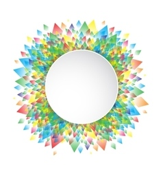 Colorful background geometric circle pattern vector