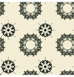 Seamless tile print with stylized oriental flowers vector