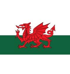 Wales flag vector