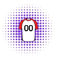 Hockey sweater icon comics style vector