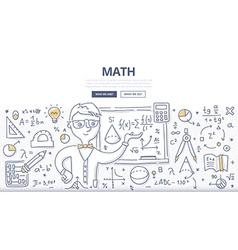Math doodle concept vector
