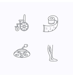 Weight loss wheelchair and vein varicose icons vector