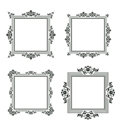 Vintage frame set three vector