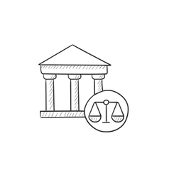 Court sketch icon vector