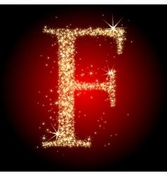 letter star f vector image
